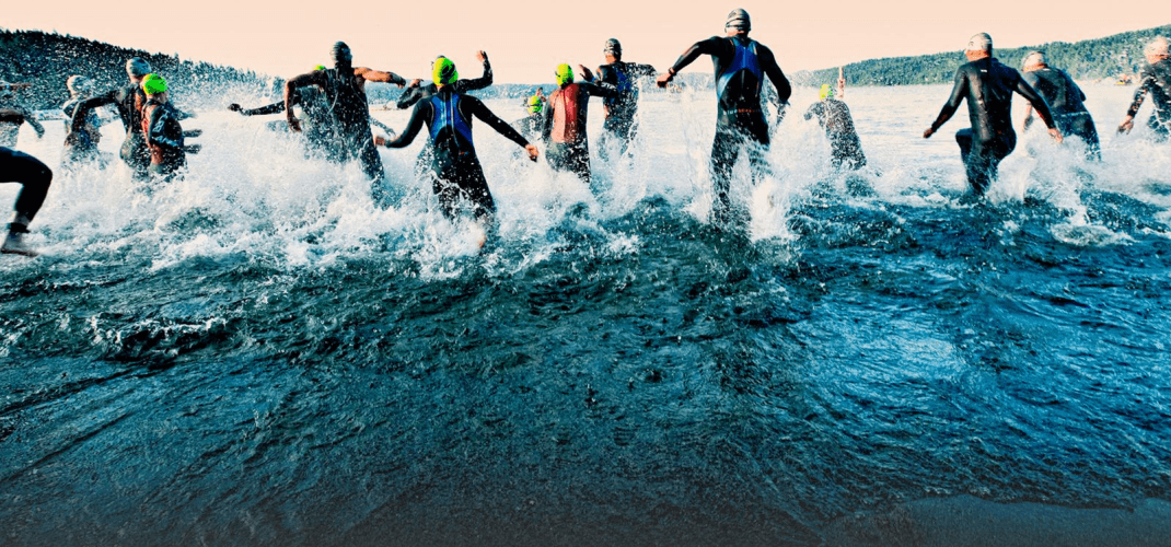 Running in a triathlon (Image: Ironman)`