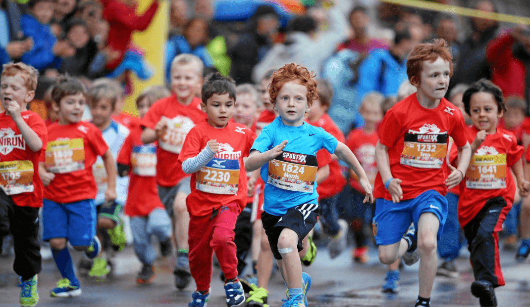 Ranging from 200m to 1 mile, the MiniRun is open for children up to 16 years of age.