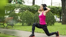 Lunges are the easiest way to stretch your muscles after a run