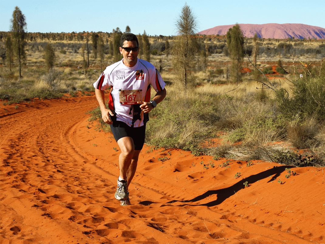Red sand and miles of open space are the dominant features of the Australian Outback Marathon (Image: Pryorpage)