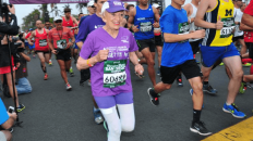 Thompson has raised over $100,000 for charities through her marathon runs (Image: Paul Nestor)