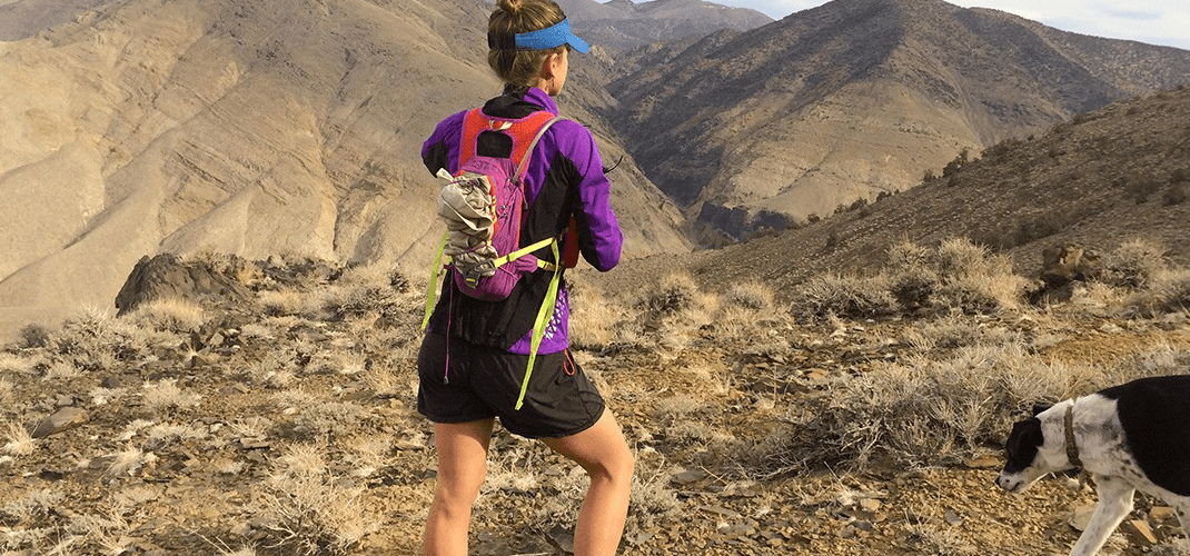 Gaiters and a running pack are ideal for rough terrain