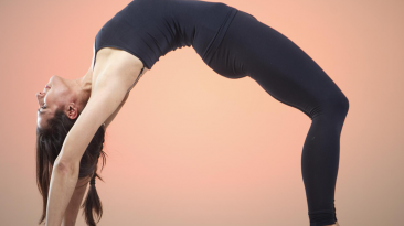 Rebecca Pacheco swears by yoga for improving muscle structure and flexibility (Image: Dina Rudick | Boston Globe)