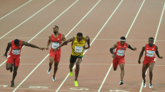 Bolt beats the field at the 2015 World Championships