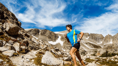 Scott Jurek running in the mountains of Colorado