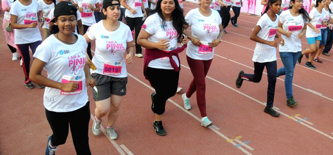 Pinkathon is a women-only running event held in various cities across India