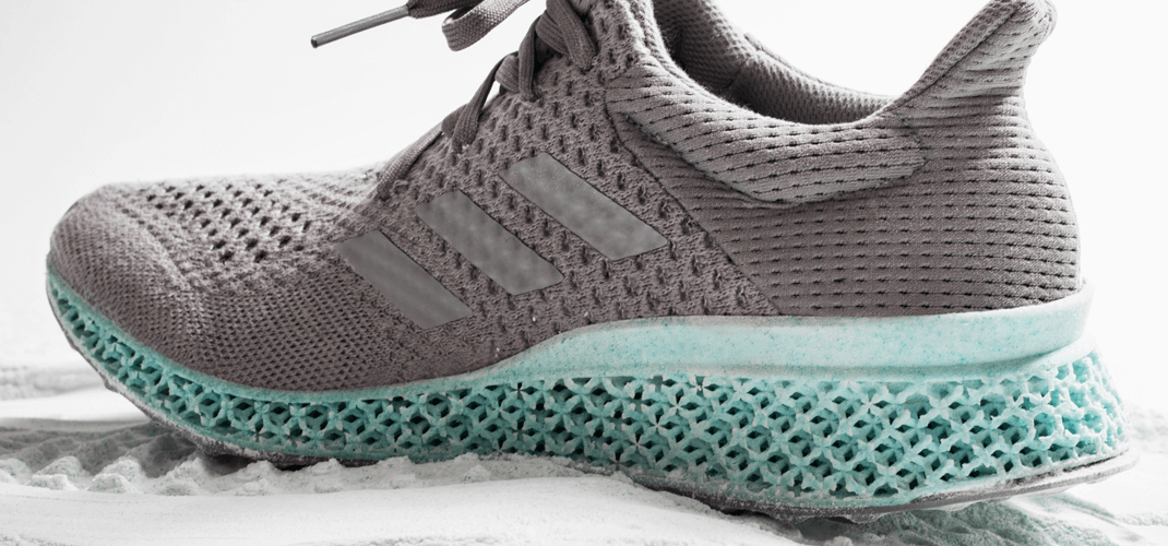 sports shoes f66d4 35301 New gear launch Adidas unveils 3D-printed shoe made out of ocean plastic  waste