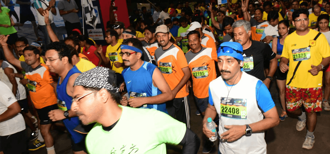 Goa River Marathon at the Start Line