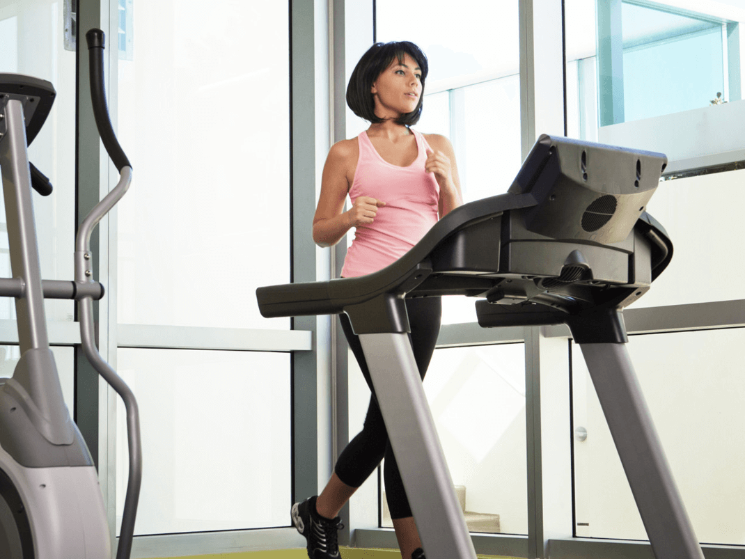 A treadmill lends itself to various routines and drills