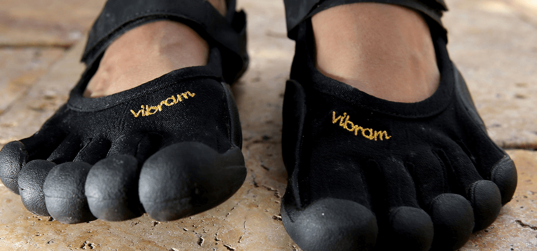 Vibram's Five Fingers, known as barefoot shoes, take minimalism to the extreme