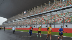 Running on the Buddh International Circuit F1 track in Noida