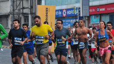 Runners at the Standard Chartered Mumbai Marathon
