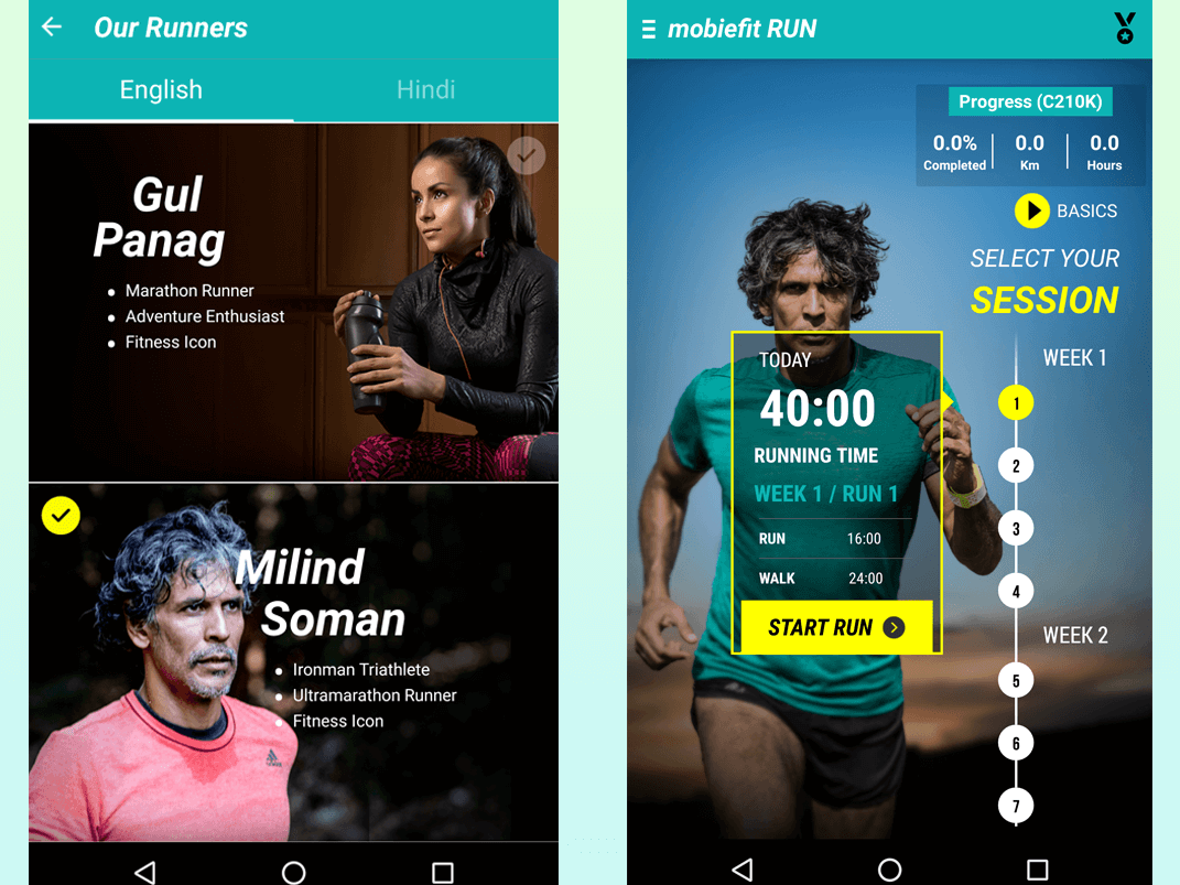 mobiefit RUN with Milind Soman