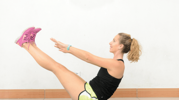 Form is key when working out, so don't just rely on simple crunches to get the flat abs