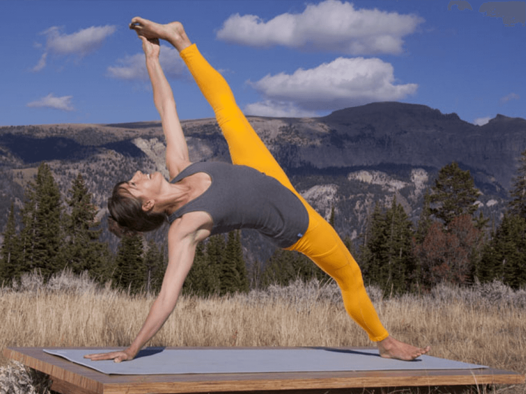 Advanced variation of the Side Plank Pose (Image: yogatoday.com)