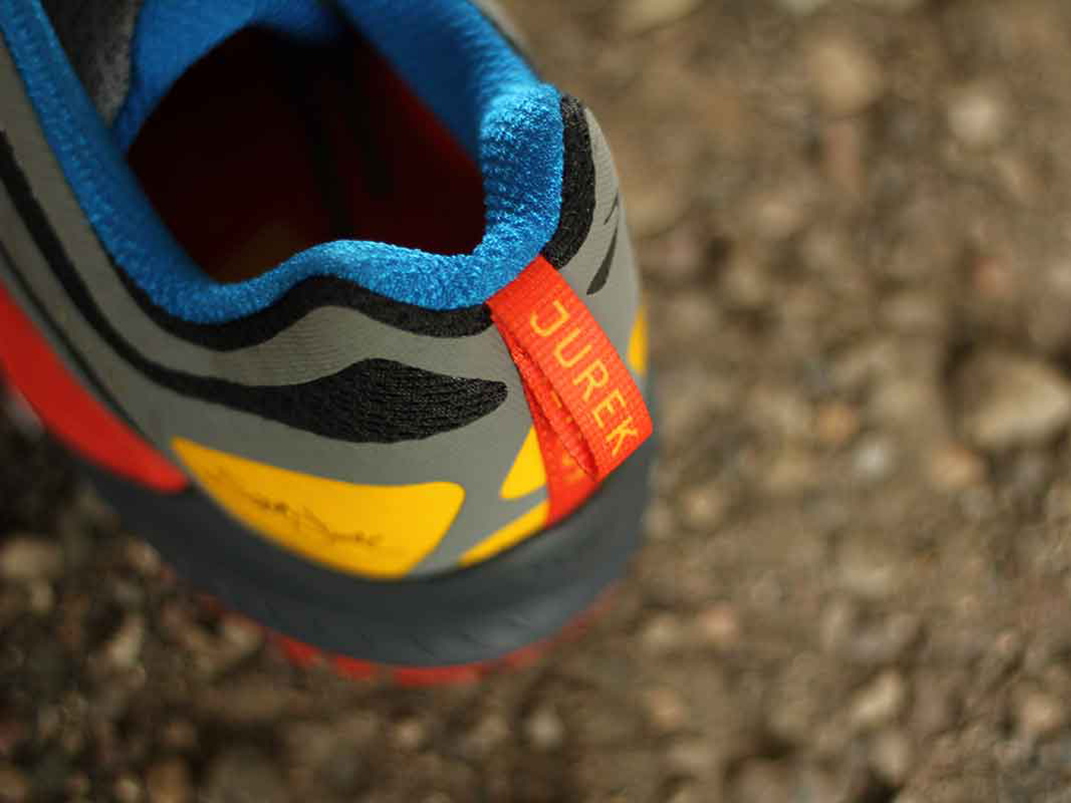 Jurek's autograph on the back of the shoe