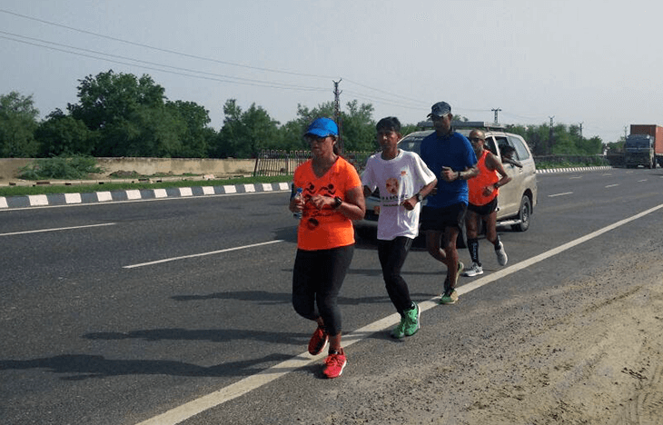 Day 3 of The Great India Run ended at 7pm in Shahpura, Rajasthan