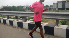 Gujarat's Dhanee Kumar on Day 1 of the Great India Run