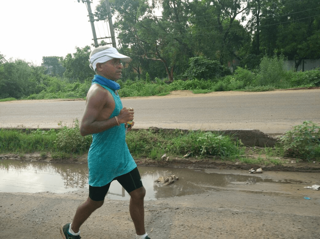 Goa's Dinesh Heda on Day 2 of the Great India Run