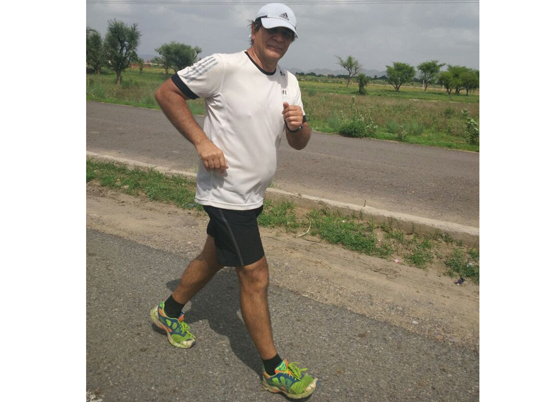Yuri Esperson on Day 4 of The Great India Run