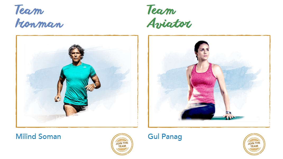 Milind Soman and Gul Panag in the Digital Marathon