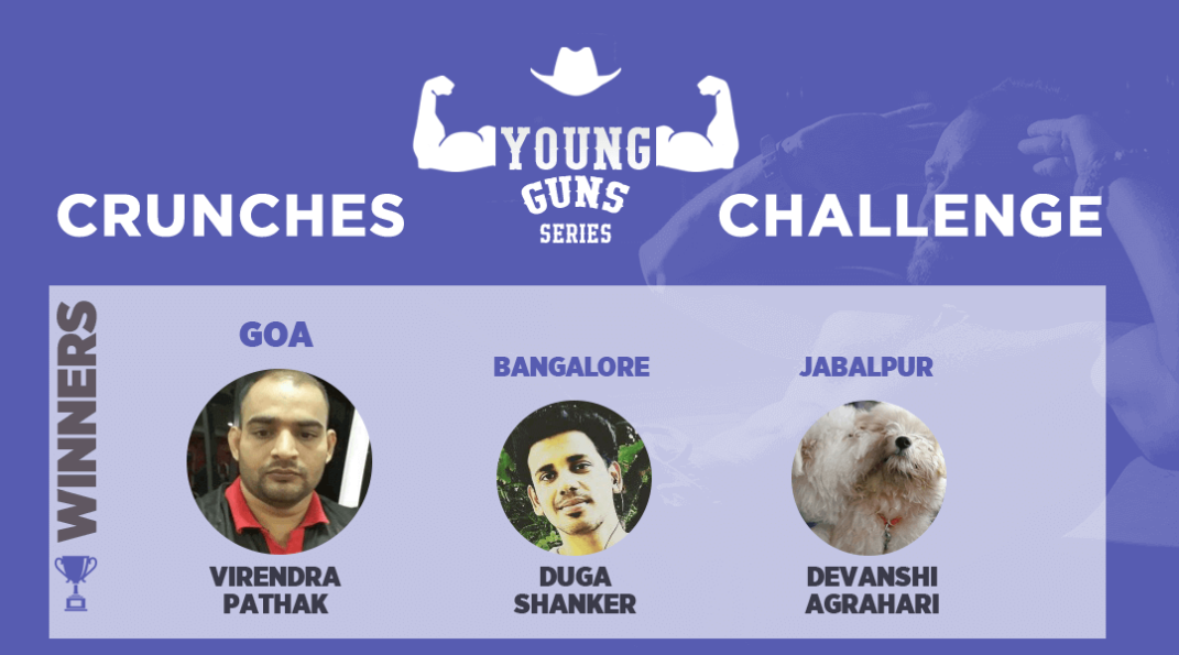 Young Guns Crunches Challenge winners