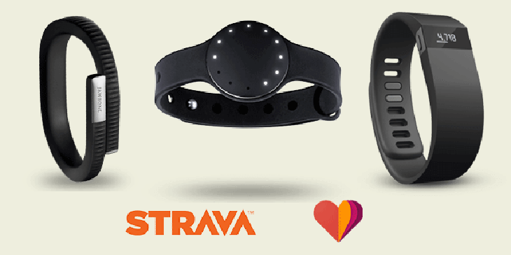 Support for Fitbit, Jawbone, Misfit, Google Fit and Strava in mobiefit RUN for Android